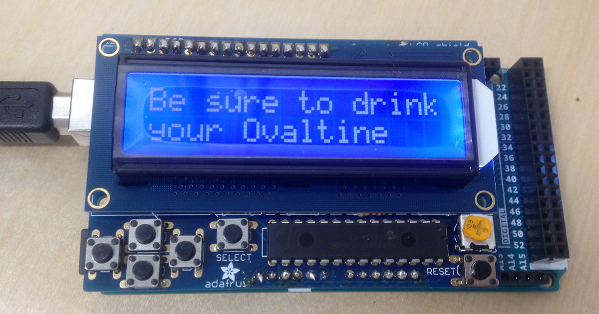 My first impressions of this cool Arduino LCD Shield kit by Adafruit. I assemble it, try it out, and share my results.