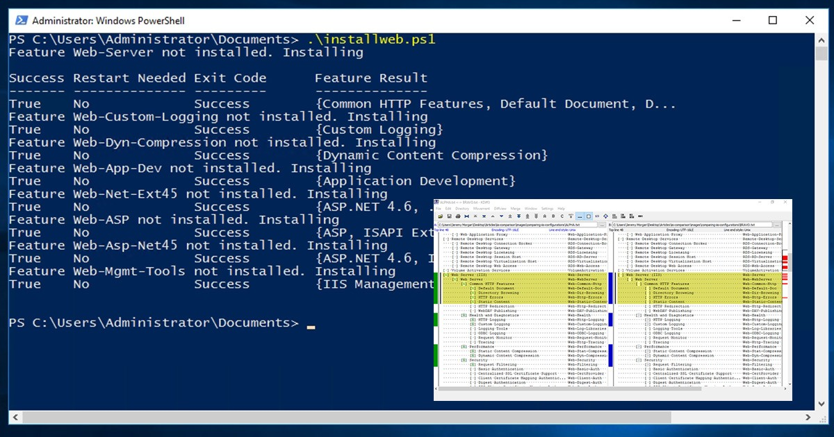 Comparing and Syncing IIS Configurations - Devops Blog