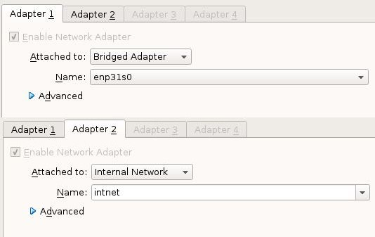 Bridged Network Adapter VirtualBox