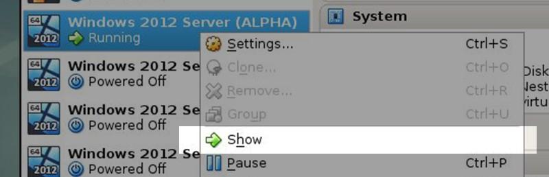 Show Desktop Virtual Box