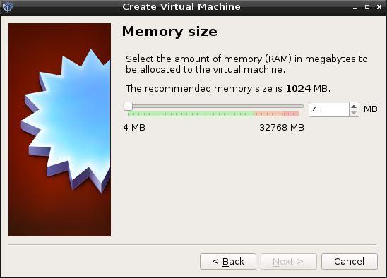 Virtual Box Memory